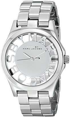 Marc by Marc Jacobs Women's MBM3205 Skeleton Watch with Link Bracelet
