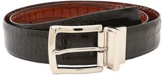 Torino Leather Co. Reversible Italian Crocodile Embossed Men's Belts