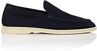 Loro Piana Men's Summer Walk Suede Loafers - Royal Blue