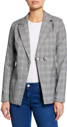 Free Generation Double-Breasted Plaid Jacket