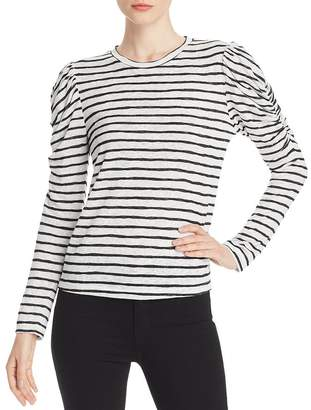 LnA Ella Puff-Sleeve Striped Tee