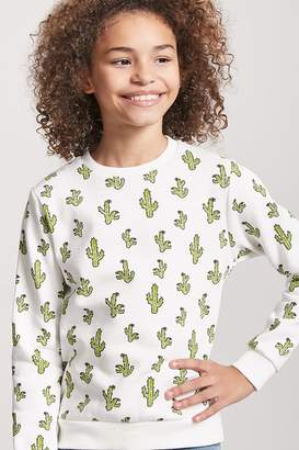 Forever 21 Girls Cactus Print Top (Kids)
