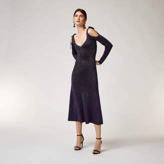 Warehouse Sparkle Tie Shoulder Dress