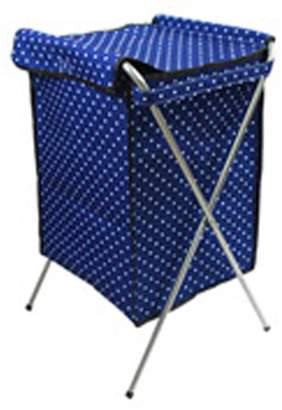 Household Essentials Panda Superstore Foldable Laundry Basket (40 *35*66 cm)