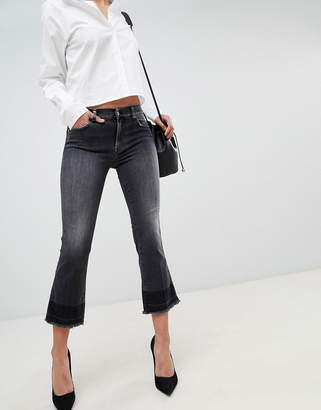 7 For All Mankind Cropped Kick Flare Jeans
