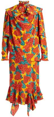 J.W.Anderson Paisley-print silk midi dress