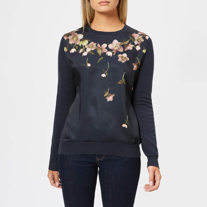 Women's Sowfiee Arboretum Woven Front Knitted Jumper