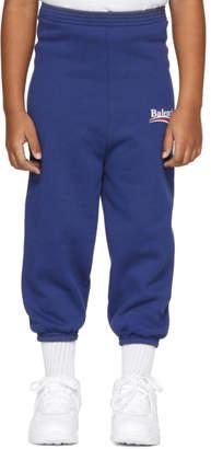 Balenciaga Girl Blue Campaign Logo Lounge Pants