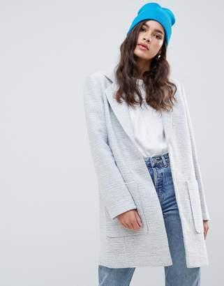 Asos Design DESIGN slim coat in texture
