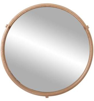 "Patton Wall Decor 24"" Gold Cut Out Round Wall Mirror"