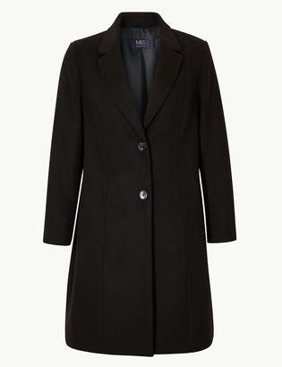 Marks and Spencer CURVE Single Breasted Coat