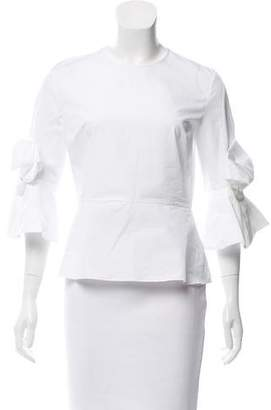Roksanda Tie-Accented Long Sleeve Blouse