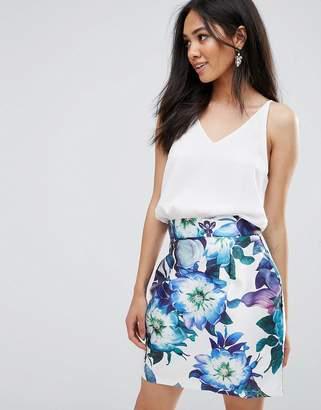 AX Paris 2 In 1 Mini Printed Floral Skirt Dress