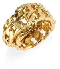 Emanuele Bicocchi 24K Gold-Plated Sterling Silver Chain Ring