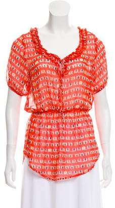 Needle & Thread Printed Short Sleeve Blouse