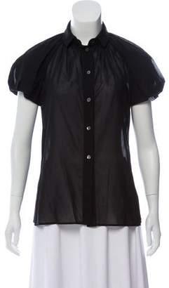 Dolce & Gabbana Short Sleeve Woven Top