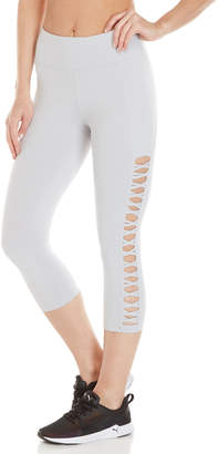 Betsey Johnson Crisscross Cutout Capri Leggings