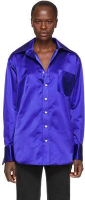 Matthew Adams Dolan Blue Oversized Oxford Shirt