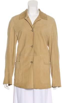 Max Mara Weekend Suede Button-Up Jacket