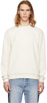 John Elliott Off-White Corduroy Mock Neck Sweatshirt