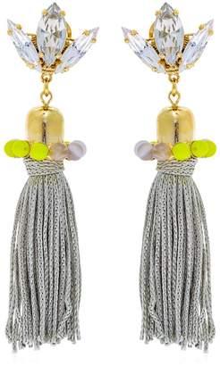 Anton Heunis Color Block Tassel Earrings