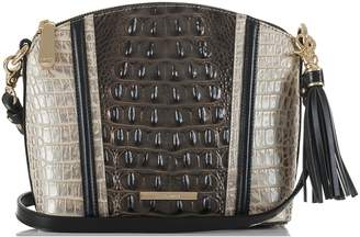 Brahmin Mini Duxbury Croc Embossed Leather Crossbody Bag