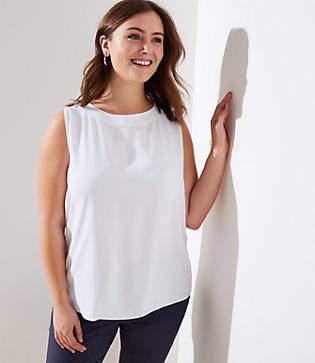 c94e9c0c385 LOFT White Women s Sleeveless Tops - ShopStyle