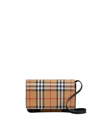 Burberry Tartan Mix Hampshire Wallet with Strap