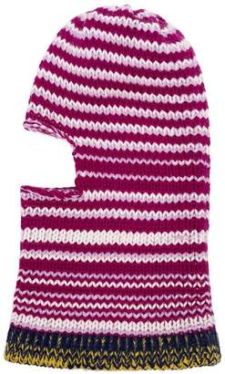 Calvin Klein multicoloured striped wool balaclava