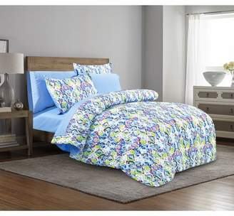 Mainstays Pretty Mosaic Bed in a Bag Complete Bedding Set