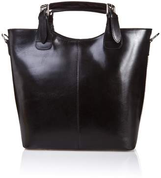 Castelli Massimo Buckle Handle Calfskin Satchel Bag