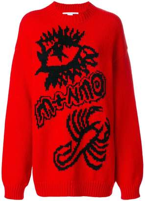 Stella McCartney Members intarsia knit