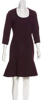 Yigal Azrouel Three-Quarter Sleeve Knee-Length Dress