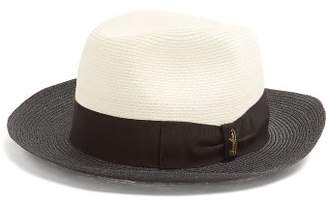 Borsalino Bi-colour panama hat