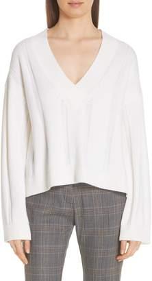 Derek Lam 10 Crosby V-Neck Wool Sweater