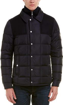 Moncler Clovis Wool-Trim Jacket