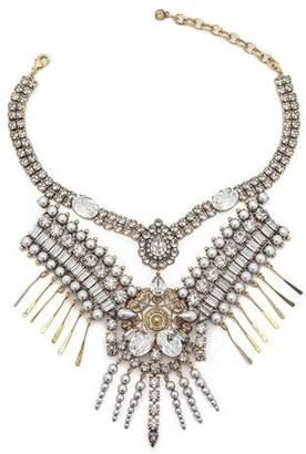 DYLANLEX Hunter Statement Necklace w/ Mixed-Cut Crystals
