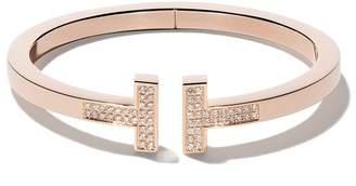 Tiffany & Co. & Co 18kt rose gold T square diamond cuff