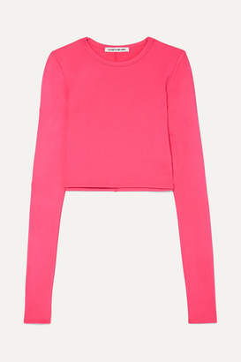 Elizabeth and James Desmond Cropped Stretch-jersey Top - Pink