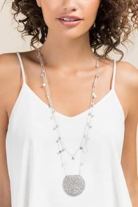 francesca's Sarah Silver Crescent Necklace - Silver