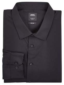 Mens Big & Tall Black Slim Fit Essential Shirt