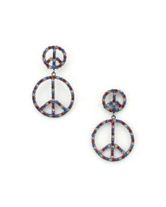 Elizabeth Cole Eleanor Peace Drop Earrings