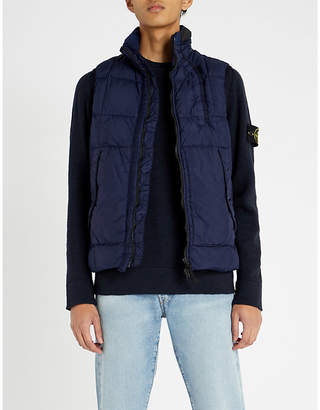 Stone Island Crinkle Reps textured shell-down gilet