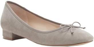 Sole Society Block Heel Leather Slip-Ons - Anastasi