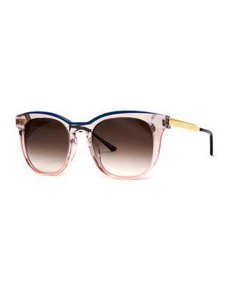 Thierry Lasry Pearly Two-Tone Acetate/Metal Square Sunglasses