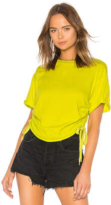 KENDALL + KYLIE Ruched Tie Side Tee