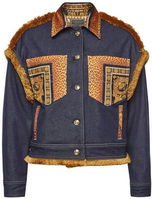 Versace Denim Jacket with Fringe