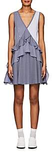 Opening Ceremony Women's Striped Stretch Cotton-Blend Dress-Blue