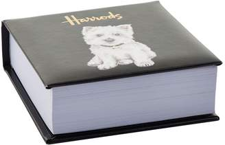 Harrods Westie Puppy Memo Block