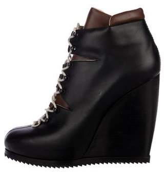 Pierre Hardy Leather Wedge Boots